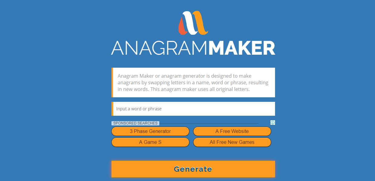 top 3 sites to make your text anagrams